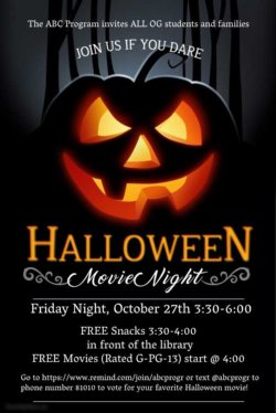 Halloween Movie Night for the Whole Family | Orange Glen High School